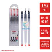 Kuas Lukis Cat Air Set isi 3 Water Color Paint Brush Set JOYKO BRS-11