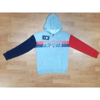 NEW ENGLAND PATRIOTS NIKE NFL 2 SIDED PULLOVER HOODIE - GREY