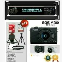 Canon EOS M200 Kit 15-45MM Paket 32GB&ACc-Kamera 4K Video DISTRI
