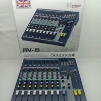 MIXER SOUNDCRAFT RV8/RV 8 8CH USB MIXER AUDIO murah bagus bisa cod