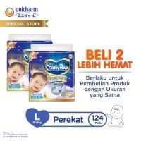 MamyPoko Perekat Extra Soft - L 62 - 2 Packs - Popok Tape