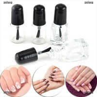 2ml/3ml Empty Nail Polish Clear Glass Bottle Storage Container with