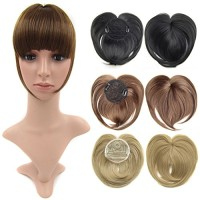 Beauty Wig World Blonde Front Fringe Clip in Hair Extensions One Piece