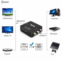 574rca Konverter Audio Video Mini RCA Composite CVBS AV Ke HDMI