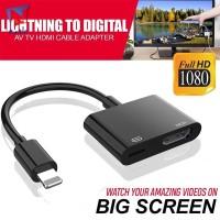 ExhG❤❤❤Adapter Kabel AV Konverter Lightning 8Pin ke HDMI 1080P