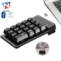 Keyboard Numerik Wireless 2.4GHz Mini USB 19 Tombol untuk PC
