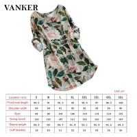 Dress Model Lengan Panjang Print Motif Bunga Bahan Katun dan Linen