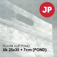 Plastik Klip Pond Oval Bening 25x35 +7(POND) (isi 100 lembar)