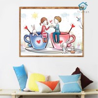 ✧ * truman*5D DIY Full Drill Diamond Painting Sweet Lovers Cup