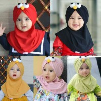 Jilbab / Kerudung Muslim Motif Kartun untuk Bayi / Anak Perempuan