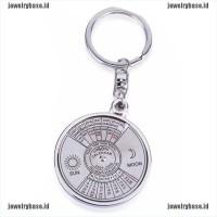 Gantungan Kunci dengan Kompas + Kalender 50 Tahun Bahan Metal Alloy