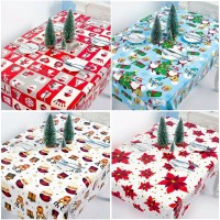 1pc New Christmas Cartoon Bell Tablecloth Table Cover Xmas Party