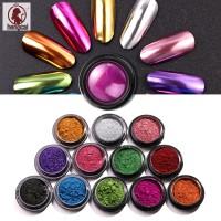 Bubuk Glitter Efek Cermin untuk Dekorasi Kutek UV Gel