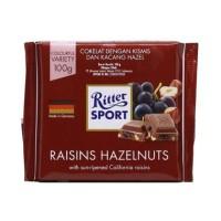 RITTER SPORT CHOCO RAISIN&HAZELNUT 100GR