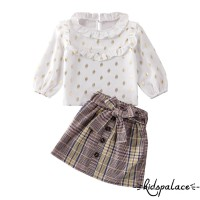 ➤♕❀❤Baby Girl Toddler Kids Outfit Clothes Ruffle Shirt Tops