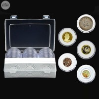 30x Plastic Clear Capsule Collection Coin Storage Case Set