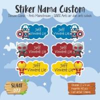 sticker label nama anak girl waterproof kartun cute fruit SLNAT-072