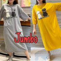 Long Dress Wanita Jumbo / Big Size / Caty Love Me / Korea / Simple
