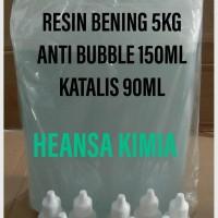 RESIN BENING 5KG ANTI BUBBLE 150ML KATALIS 90ML