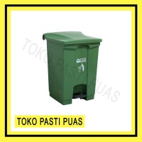 Tempat Sampah Injak Segi Bio Dustbin 50 Liter Green Leaf 2169