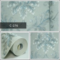 Wallpaper Sale Ready Klasik Batik Soft Biru 53CM X 10M
