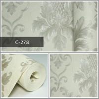 Wallpaper Sale Ready Klasik Batik Putih 53CM X 10M
