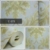 Wallpaper Sale Ready Klasik Batik Soft Biru Krem 53CM X 10M
