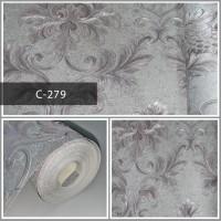 Wallpaper Sale Ready Klasik Batik Soft Abu 53CM X 10M