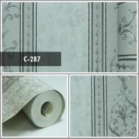 Wallpaper Sale Ready Klasik Garis Soft Abu 53CM X 10M