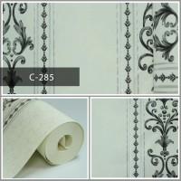 Wallpaper Sale Ready Klasik Garis Hitam Putih 53CM X 10M