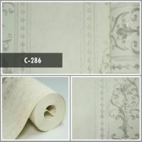 Wallpaper Sale Ready Klasik Garis Putih 53CM X 10M