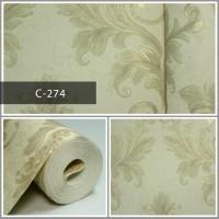 Wallpaper Sale Ready Klasik Batik Soft Krem 53CM X 10M