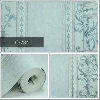 Wallpaper Sale Ready Klasik Garis Biru Muda 53CM X 10M