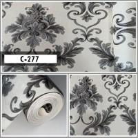 Wallpaper Sale Ready Klasik Batik Hitam Putih 53CM X 10M