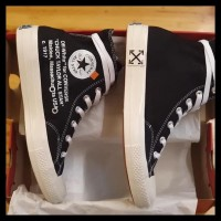 Sepatu Converse 70S X Off White Glossy High Black 38-43