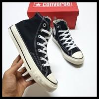 Sepatu Converse 70S High Black White Sol Glossy 39-43 - Hitam, 41
