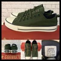 Best Seller ! Sepatu Converse Ct2 Premium Kancing Warna Army - 36