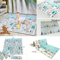 Playmat Bright Crown 150x200cm Play mat Karpet Baby Matras Lipat anak