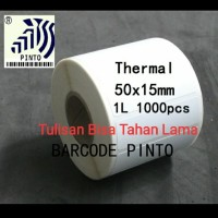 "50x15mm direct thermal 1line 1000pcs core1""gap2mm,Label stiker barcode"