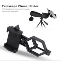 Universal Adaptor Holder teropong telescope untuk handphone Smartphone