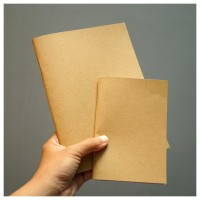 Notebook Notes Blocknote A5 A6 Kraft Polos Jilid Staples
