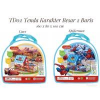 TD02 Tenda Karakter Besar 2 Baris - Tenda Anak Poptent - Rumah Mainan