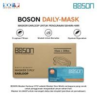 BOSON Masker Earloop 3 Ply Non-Medis 1 Karton - Disposable Face Mask