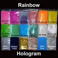 25g Glitter Powder Hologram Bubuk Gliter Serbuk Glitter Bahan Slime