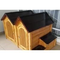 Kandang Rumah Anjing Kucing Hewan Kayu Jati Super Quality Custom