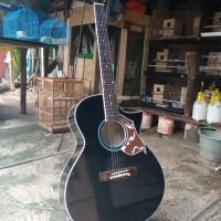 gitar akustik elektrik cort custom