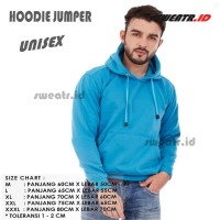 Biru / Hoodie Biru / Hoodie Jumper / Jaket / Sweater - M