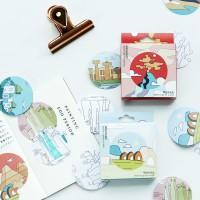 Landmark Illustration Deco Sticker Pack / Sticker Unik / Sticker Lucu