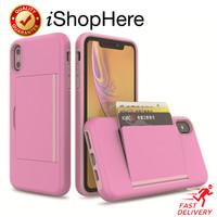 Casing Dompet Kartu Card Anti Crack Case iPhone X XR XS Max