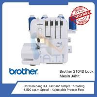 BROTHER Mesin Obras Mesin Necci 2104D 2104 D Portable Multifungsi